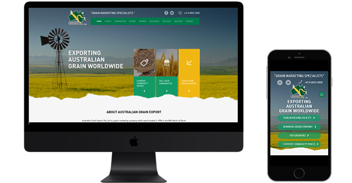 Australian Grain website design