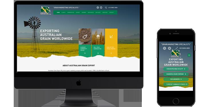 Australian Grain website design
